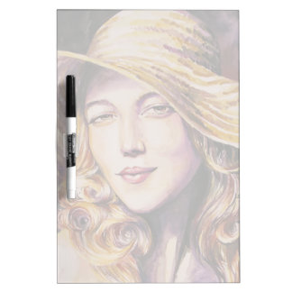 Woman with hat Dry-Erase board