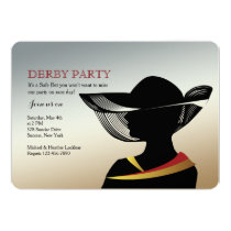 Woman With Hat Horse Race Invitation