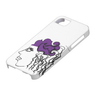 Woman with hat iPhone SE/5/5s case