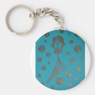 woman with headache keychain