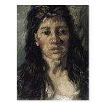 Woman with Her Hair Loose Van Gogh Fine Art Postcard