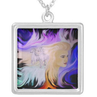 Woman with horse custom necklace