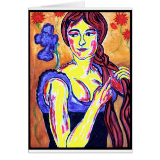 Woman with Iris Card