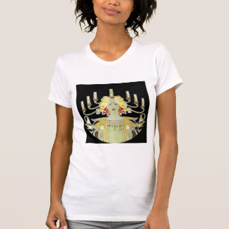 Woman with Lamp Light T-Shirt