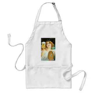 Woman with large pint of beer French illustration Aprons