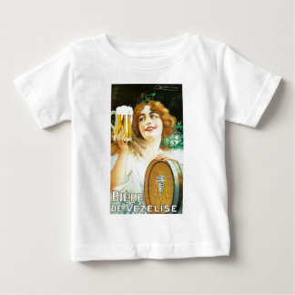 Woman with large pint of beer French illustration Tee Shirt