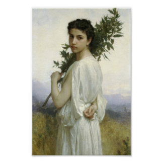 Woman with Laurel Branch Posters