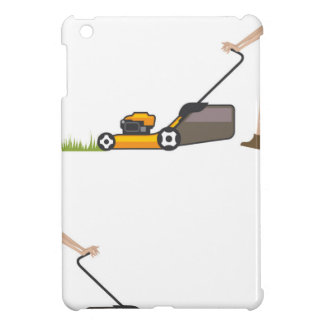 Woman with lawnmower iPad mini covers