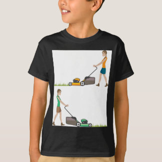 Woman with lawnmower T-Shirt