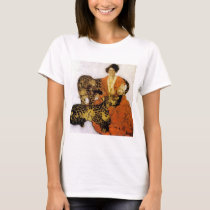 Woman with leopards T-Shirt