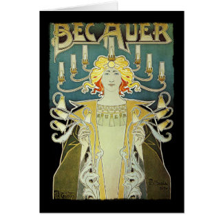 Woman with Lights Bec Auer Card