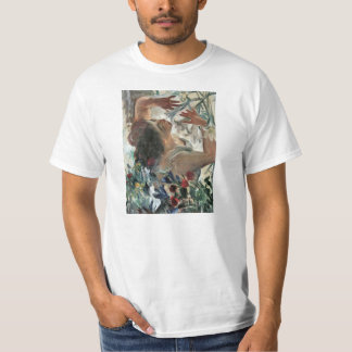 Woman with lilies in the greenhouse -Lovis Corinth T-Shirt