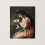 Woman with Lilly Jigsaw Puzzle