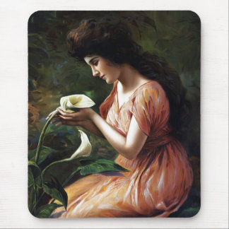 Woman with Lilly Mouse Pad