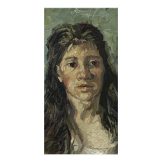 Woman with Loose Hair by Vincent Van Gogh Card