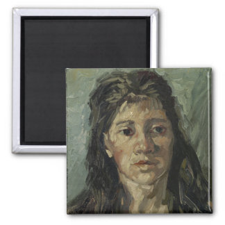 Woman with Loose Hair by Vincent Van Gogh Magnet