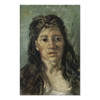 Woman with Loose Hair by Vincent Van Gogh Photograph