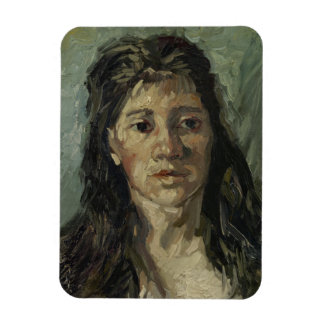 Woman with Loose Hair by Vincent Van Gogh Rectangle Magnet