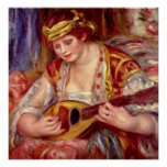 Woman with Mandolin Posters