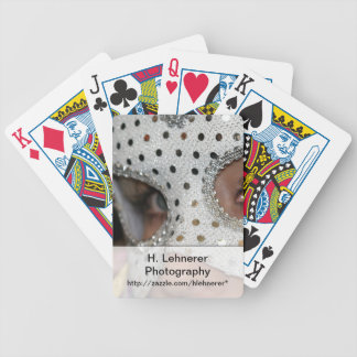 Woman With Mask Bicycle Playing Cards