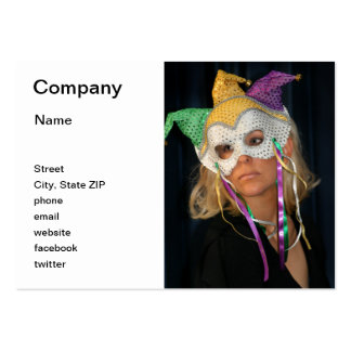 Woman with Mask Large Business Cards (Pack Of 100)