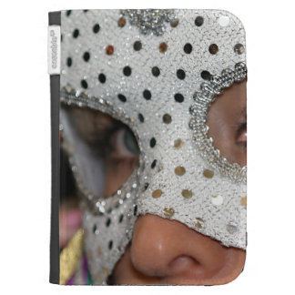 Woman With Mask Kindle Folio Case
