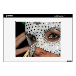 """Woman With Mask Decal For 12"""" Laptop"""