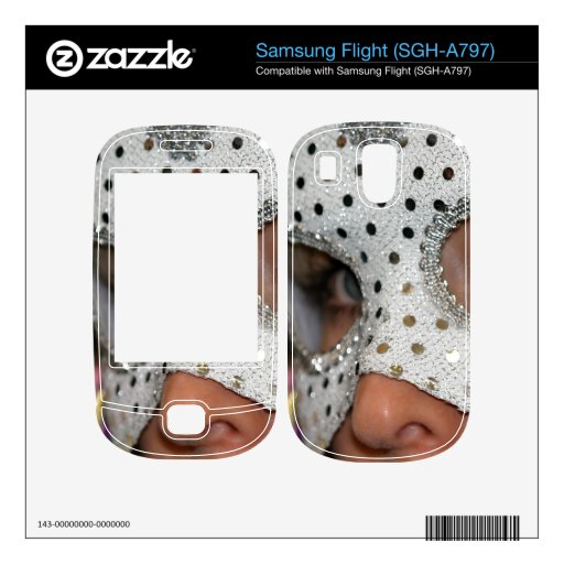 Woman With Mask Decal For Samsung Flight
