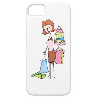 WOMAN WITH NEW CLOTHES iPhone 5 CASE