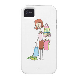 WOMAN WITH NEW CLOTHES VIBE iPhone 4 COVER