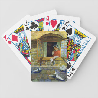 Woman with Nosegay in Window Bicycle Playing Cards