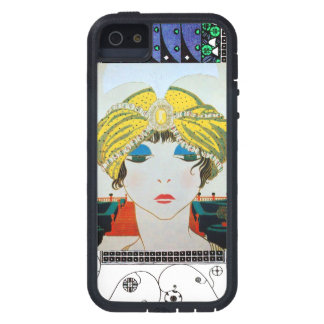 WOMAN WITH ORIENTAL YELLOW TURBAN / Beauty Fashion iPhone 5 Cases