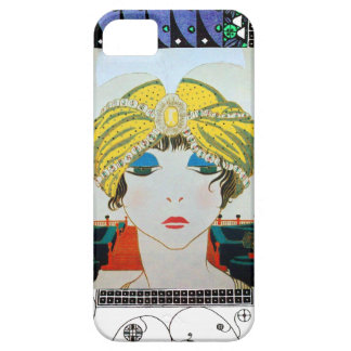 WOMAN WITH ORIENTAL YELLOW TURBAN / Beauty Fashion iPhone 5 Covers