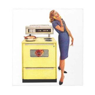 Woman with Oven 1960 Scratch Pad