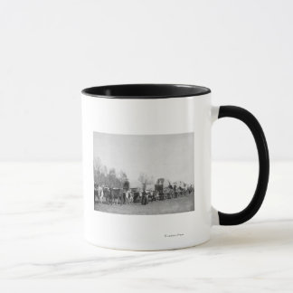 Woman with Ox Train Holds a Whip Photograph Mug