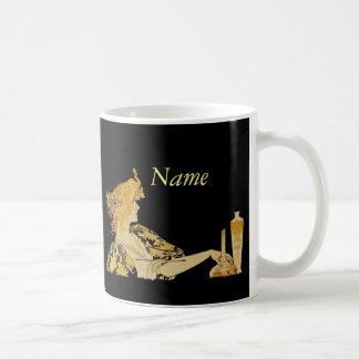 Woman with Paint Brush Coffee Mug