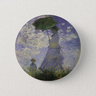 Woman with Parasol by Claude Monet, Vintage Art Button