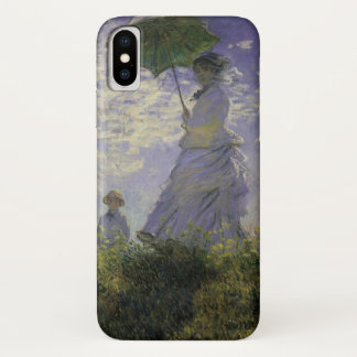 Woman with Parasol by Claude Monet, Vintage Art iPhone X Case