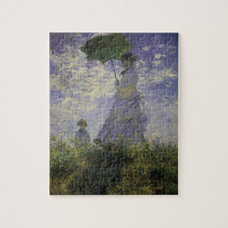 Woman with Parasol by Claude Monet, Vintage Art Jigsaw Puzzle