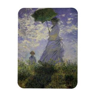 Woman with Parasol by Claude Monet, Vintage Art Magnet