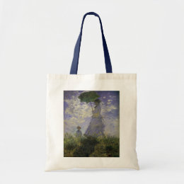 Woman with Parasol by Claude Monet, Vintage Art Tote Bag