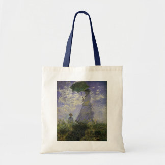 Woman with Parasol by Claude Monet, Vintage Art Tote Bag