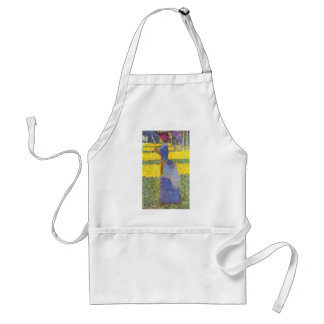 Woman with Parasol by Georges Seurat Adult Apron