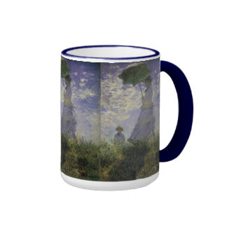 Woman with Parasol by Monet, Vintage Impressionism Coffee Mug