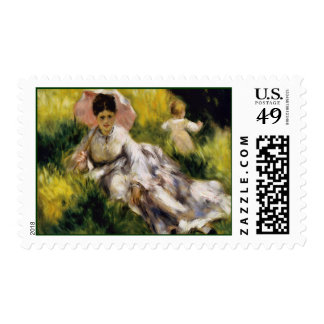 Woman with Parasol Fine Art Postage