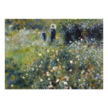 Woman with Parasol in a Garden by Renoir Invitations