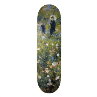 Woman with Parasol in a Garden by Renoir Skateboard
