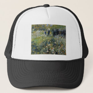 Woman with Parasol in a Garden Trucker Hat