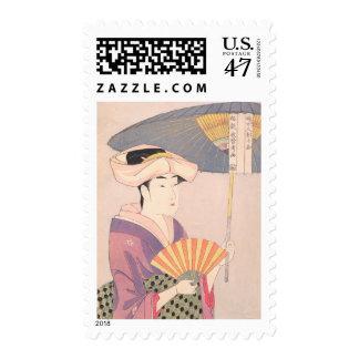 Woman with Parasol Kitagawa Utamaro japanese lady Postage