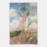 Woman with Parasol Promenade Monet Towels